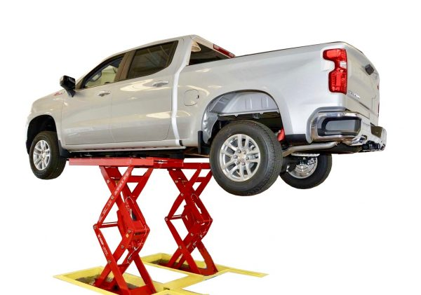 10,000 lb. (4.5t) Full Rise Double Scissor Pad Style Body Contact Lift