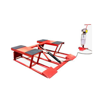 "6,000 lb. (2.7t) Capacity Low Rise Pad Style Body Contact Cantilever Lift Raised Height 28"" with Adapters"