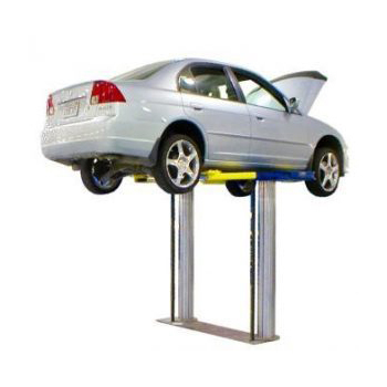 10,000lb.(4.5t)  Capacity Steel Frame Style Twin Post In Ground Swing Arm or Pad Style Lift