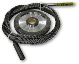 "9"" Machined Pulleys 1/2"" Premium Cable"