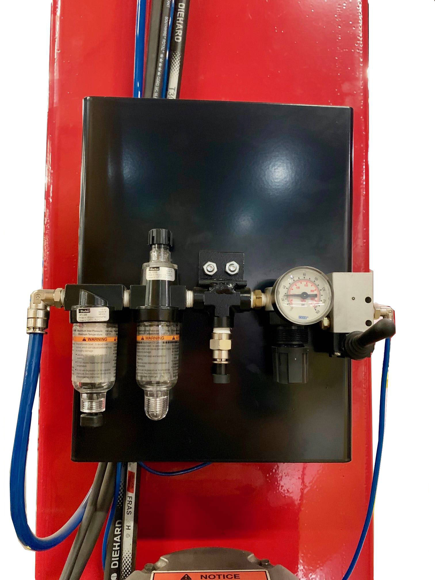 Single Point Air Lock Release with Regulator Water Trap, Filter & Oiler